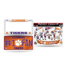 Clemson Tigers NCAA 3 Piece Auto Family Pack