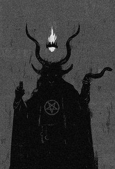Image about Devil in baphomet misas negras y brujas by Gino Pec Baphomet, Arte Horror, Horror Art, Lila Baby, Arte Peculiar, Satanic Art, Arte Obscura, Macabre Art, Occult Art