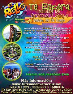 Viaja a El Rollo Este 26 De Mayo Saliendo De Veracruz y Xalapa