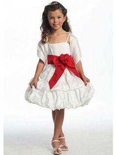 Principessa Spalline sottili Mini Fiocco Taffettà Abiti cerimonia bambini - Abiti Cerimonia Bambini - Abiti da Matrimonio