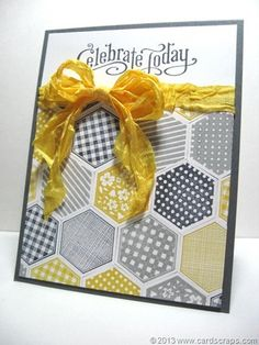 Celebrate Card created by Lianne Carper using the Six-Sided Sampler and Perfectly Penned stamp sets by Stampin' Up!