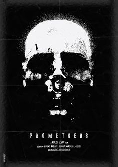 Prometheus by Daniel Norris. i love the splatter look around the edge of the skull. it even gets echoed in the eyes and along the bottom