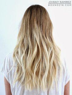 Hair Color by JOHNNY RAMIREZ • IG: @johnnyramirez1 • Ramirez|Tran Salon • 310.724.8167 • info@ramireztran.com // #ramireztran #johnnyramirez #ramireztransalon #boxno216 #beautifulhair #wavyhair #longhair #blonde #beverlyhills #hairinspiration #summerhair #beachhair