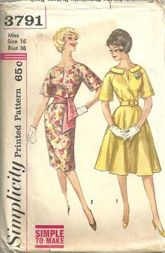 Simplicity 3791 Vintage Sewing Pattern