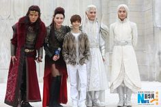 Ice Fantasy actors with The 19 year old Author who made the book! Quite Impressive!