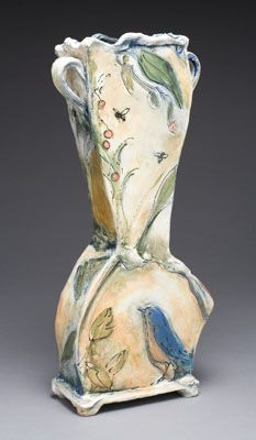 """Love the colors and """"glaze painting"""" effect. Very pretty. Laurie Shaman - Ceramic Artist"""