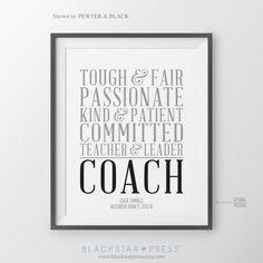Coach Gift Coach Thank You Coach Gift from Team Gift for Coach Gift for Volleyball Coaches Baseball Team Gift Soccer Coach Baseball Coach NOTE: