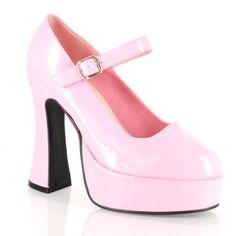 Ellie Shoes 'Eden' Chunky Mary Janes - Pink [Special Order]