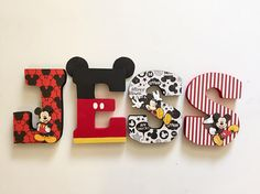 Mickey First Birthday, Mickey Mouse Clubhouse Birthday Party, Jungle Theme Birthday, Mickey Party, Mickey Mouse Letters, Fiesta Mickey Mouse, Mickey Mouse Characters, Letter Standee, Mickey Mouse Birthday Decorations