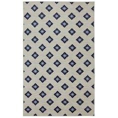 Mohawk Home Loop Print Base Button Fleur Blue/Cream Area Rug