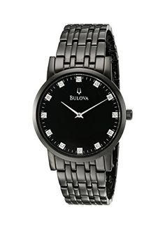 Bulova Women's 98D120 Analog Display Quartz Black Watch *** You can get more details by clicking on the image.