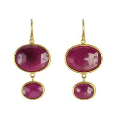 Caroline Ellen's ruby earrings