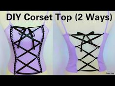 DIY Corset Top: 2 Ways to Transform Any Top Into Corset (Hand-sew) - YouTube