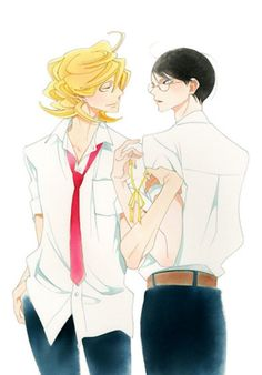 Discovered by gaby kawaii. Find images and videos about Boys Love, boyxboy and doukyuusei on We Heart It - the app to get lost in what you love. Manga Art, Manga Anime, Nakamura Asumiko, Lgbt Anime, Otaku, Familia Anime, Film D'animation, Shounen Ai, Anime Kawaii