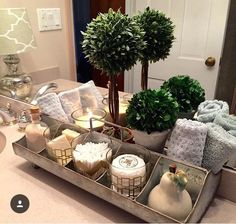 Love this use for this divided galvanized tray my Instagram friend shared!