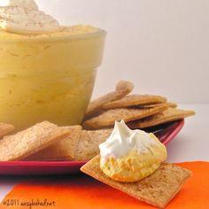 Pumpkin Pie Dip with Crisp Pie Crust Squares