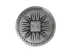 12 Mayan Metal Shank Buttons 11/16 inch  18 mm  by ButtonJones, $13.00
