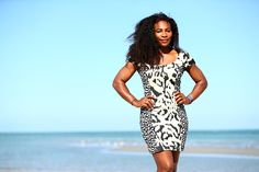 Serena Williams of the United States on Crandon Park beach after her straight sets victory against Carla Suarez Navarro of Spain in the final during the Miami Open Presented by Itau at Crandon Park Tennis Center on April 4, 2015 in Key Biscayne, Florida.