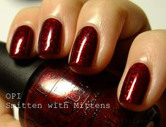 OPI - Smitten with Mittens // Rich garnet red, perfect for Christmas time.