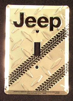 Jeep Logo Light Switch Cover Diamond Plate . $4.99