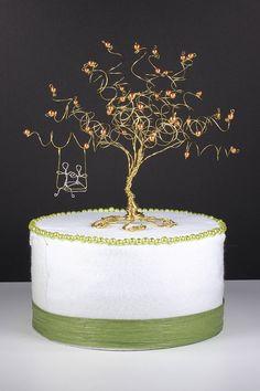Wedding Cake Topper Custom Cake Topper Wire Tree von NouveauTique