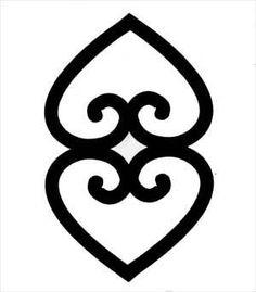 "Adinkra symbols - Asase Ye Duru - ""The earth has weight"" - Asase Ye Duru is the symbol of the divinity of Mother Earth"