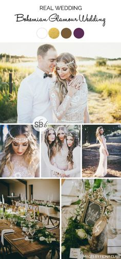 Bohemian Glamour Wed