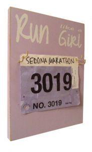 Run like a girl bibs holder for running womens  I do run like a girl...try to catch up!  $28.99