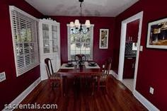 Image result for kitchen in deep red
