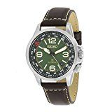 Seiko Men's Prospex 42mm Brown Leather Band Steel Case Hardlex Crystal Automatic Green Dial Watch SRPA77: Seiko: Amazon.ca: Watches