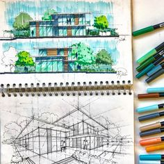 Markers on layer paper !! #mutonisketches #architecture #art #sketch #drawing #instacool #instalove #amazing #draw #artist #instadaily #instadraw #cool #instasketch #artist #instaart #doodle #architect #illustration #pen #pencil #dezeen #graphicdesign #happy #bestoftheday #awesome #architecturesketchbook #sketchbook #architecturelovers #interiordesign