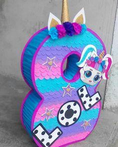 Birthday Pinata, Llama Birthday, Birthday Parties, Unicorn Pinata, Unicorn Party, Ideas Para Fiestas, Fiesta Party, Lol Dolls, Creations