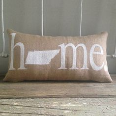 """Tennessee """"Home"""" Pillow"""
