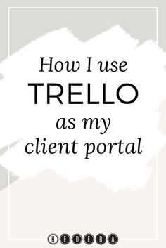 We love Trellohere at Hedera. We're big fans. Not only is it free, it's  easy to use, flexible, and helps us to stay on top of everything we have to  do. Plus, it also integrates with a bunch of other apps, which makes our  lives a lot easier. If you want to read more about our undying love for  Trello, check out the Trello tagon our blog.  So now that I've reminded you how much we love Trello, you won't be  surprised to hear that we decided to move our client management system to  Trello.