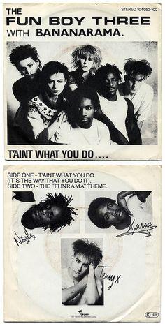 It Ain't What You Do It's The Way That You Do It b/w The Funrama Theme The Fun Boy Three with Bananarama Chrysalis Records/Germany Lp Cover, Vinyl Cover, Cover Art, Ska Music, Dope Music, Music Album Covers, Music Albums, Fun Boy Three, Terry Hall