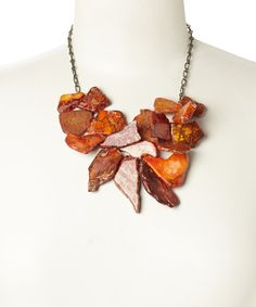 Look at this Orange Jasper Cluster Bib Necklace on #zulily today!