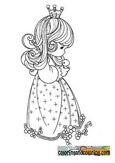 princess of precious moments coloring sheets