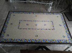 Resultado de imagem para tampo de mesa retangular em mosaico