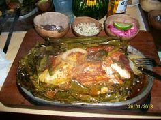 La Chaya: pollo alla yucateca cucinato con foglie di banano