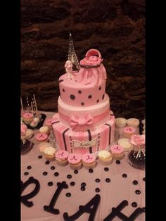 My Paris themed baby shower cake. Three tiers of different delicious flavors! Red velvet, lemon coconut and raspberry truffle! Baby Shower Cakes, Baby Shower Themes, Shower Ideas, Lemon Coconut, Paris Theme, Creative Cakes, Truffles, Babyshower, Red Velvet