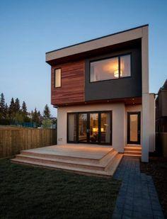 Fachada posterior casa dos pisos