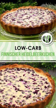 Der finnische Heidelbeerkuchen ist low-carb und glutenfrei. Zudem habe ich zum Backen Skyr verwendet.