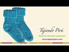 Dos agujas: cómo tejer medias (Parte 2) - YouTube Knitting Videos, Loom Knitting, Knitting Socks, Baby Knitting, Leg Warmers, Gloves, Youtube, Crocodiles, Slippers