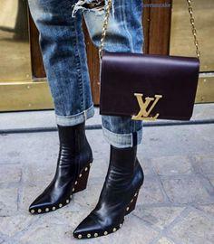 Celine Booties & Louis Vuitton Handbag More