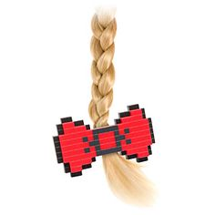 8-Bit Hair Bow | ThinkGeek (smaller and tons of different designs. like hearts and stars)