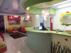 pictures of pediatric offices   Pediatric Office- Waiting Area (The Garden)