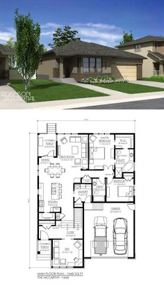 1668 sq. ft, 2 bedroom, 2 bath.