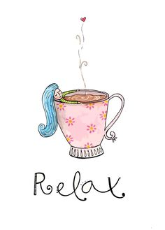 Note to myself: relax ( do. Illustration Photo, Illustrations, Best Quotes, Love Quotes, Inspirational Quotes, Relax Quotes, Tumblr Iphone, Coffee And Books, Typography Quotes