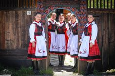 Folk, Polish, Costumes, Red, Black, Fashion, Moda, Vitreous Enamel, Popular