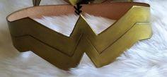 Leather Wonder Women Belt by MaskMeAnything on Etsy
